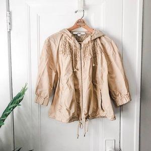 Anne Klein 3/4 length sleeve Spring Twill jacket